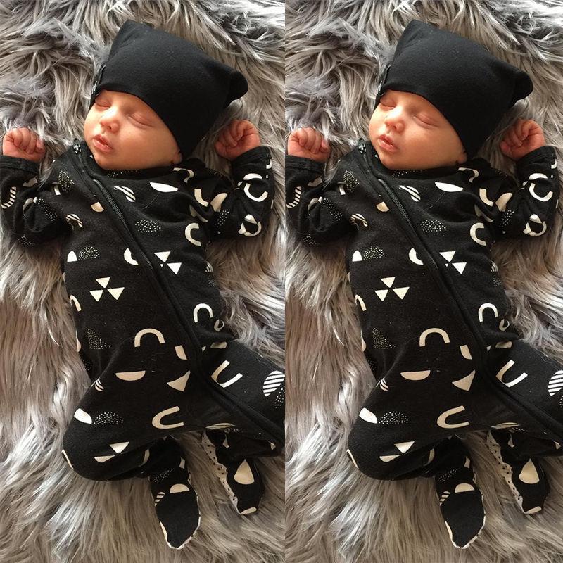 Newborn Baby Kids Boys Girls Clothes Warm Jumpsuit Romper Cotton Baby Boy Zipper Clothes Outfits Set 0-18M