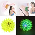 Flashing Light Up Spiky High Bouncing Balls Novelty Sensory Hedgehog Ball Children Kids Sport Toy Ball