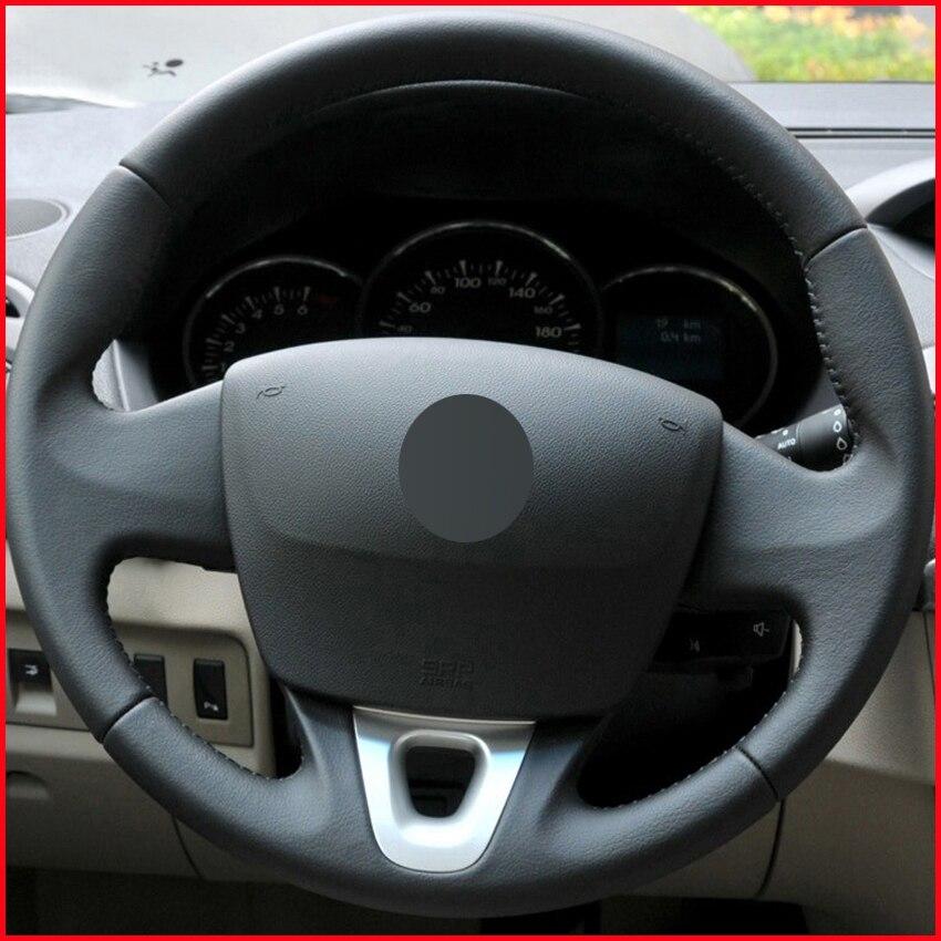 Aliexpress Com Buy Mewant Black Genuine Leather Black: MEWANT Black Genuine Leather Car Steering Wheel Cover For