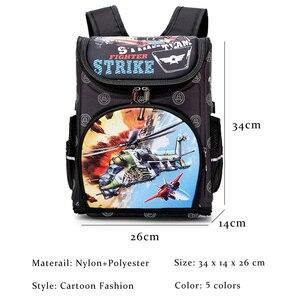 Image 3 - Wzór samolotu szkolny plecak dla chłopców Cartoon tornister dla dzieci plecaki ortopedyczne podstawowy Mochila Infantil klasa 1 3