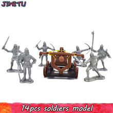 15Pcs/Pack Ancient Rome Soldiers Action Figures Toy Military Plastic Warriors War Scene Toys for Kids Playing Learning History
