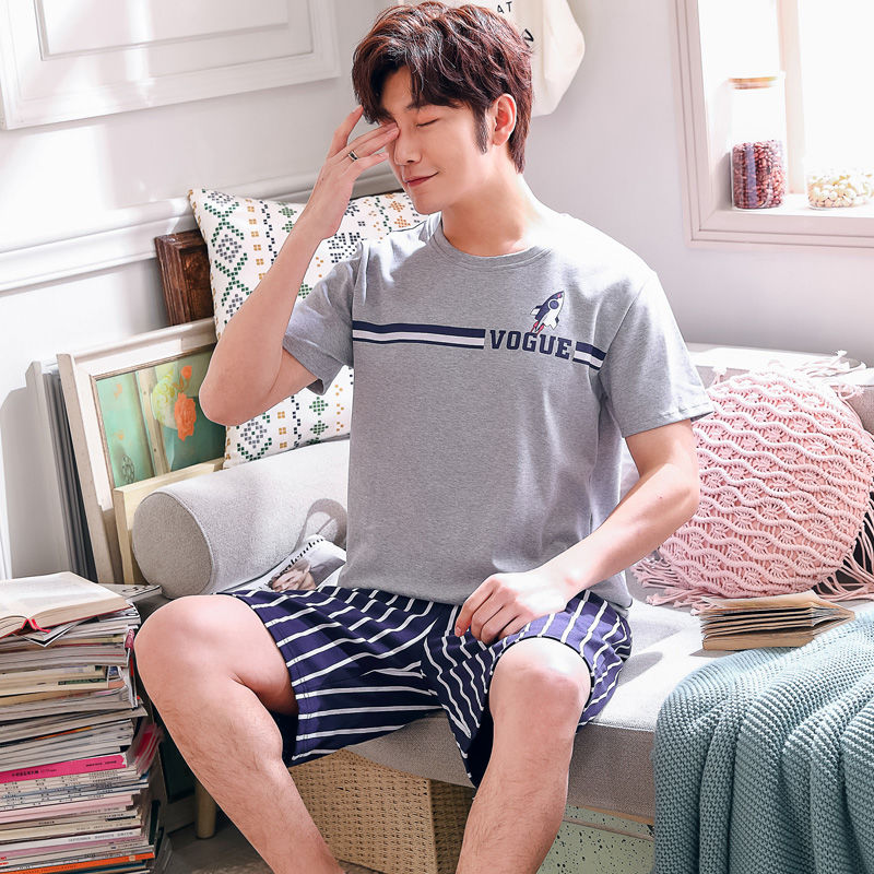 Men's Sleep & Lounge Constructive Pajamas Set Men Thin Cotton Sexy Cartoon Pyjamas Shorts Shirt 2 Piece/set Man Lingerie 2019 Top Fashion Home Sleepwear Refreshing And Enriching The Saliva