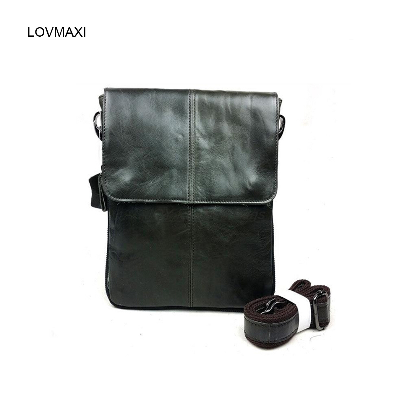 LOVMAXI Men's cow leather shoulder bags Male causal messenger bags Coffee first layer of genuine vintage handbags small bag ic200pwr102e used in good condition with free dhl ems