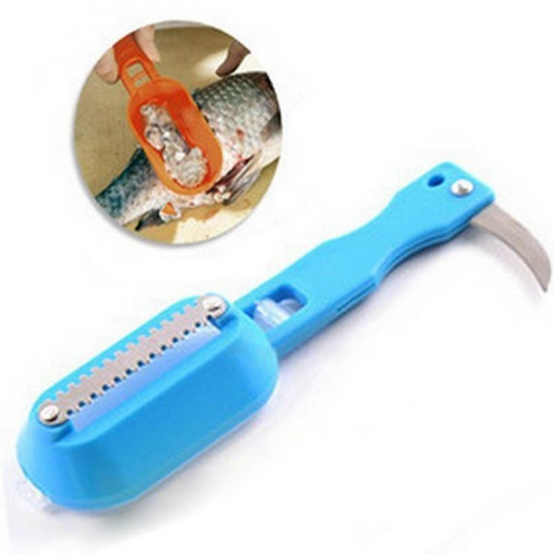US $1 33 30% OFF|1Pcs kitchen tool cleaning fish skin steel fish scales  brush shaver Remover Cleaner Descaler Skinner Scaler fishing tools knife-in