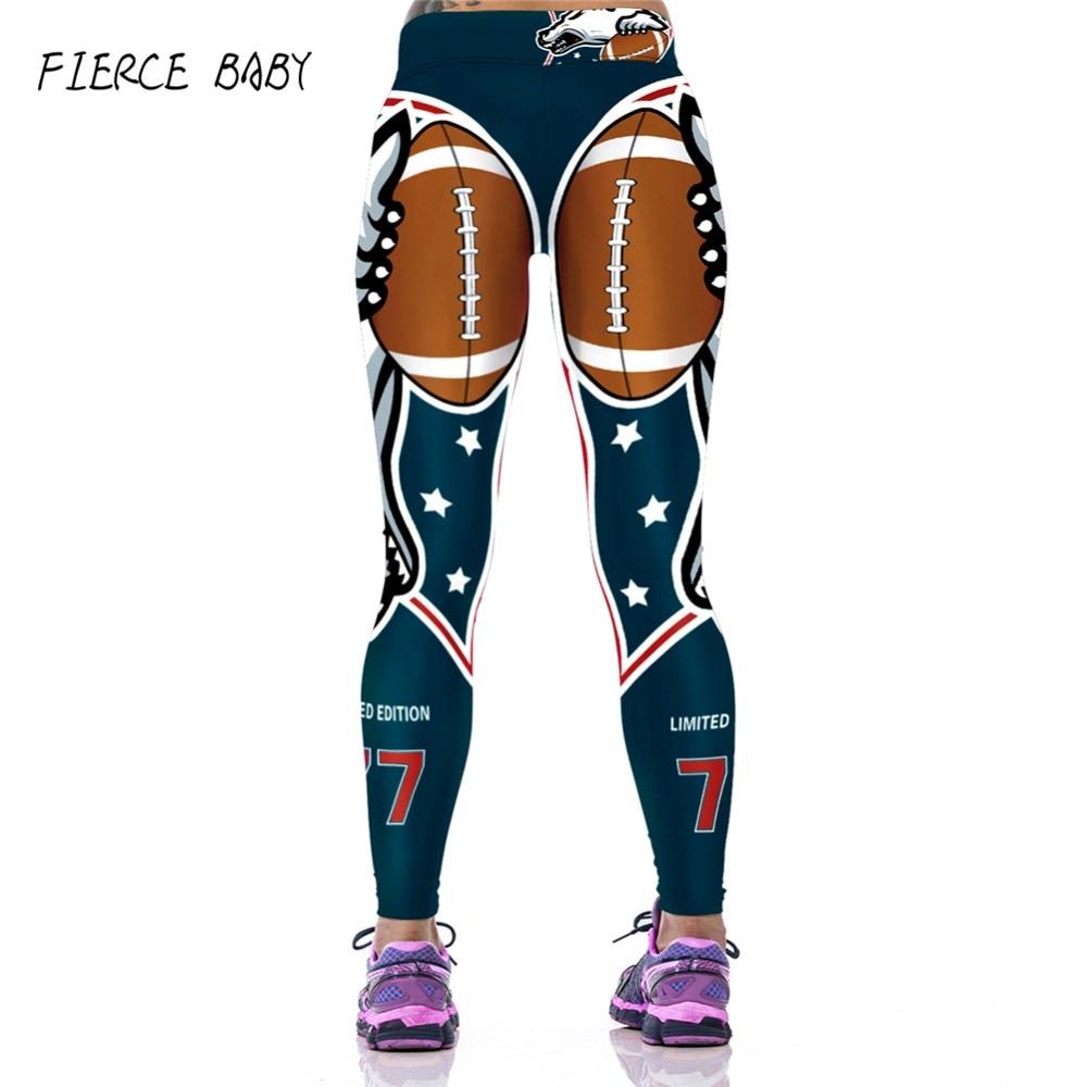FIERCE BABY 2017 Yoga pants women workout pants High Waist  fitness legging sport tights for running sportswear