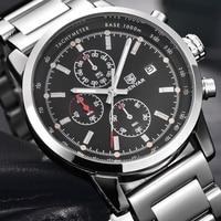 BENYAR Marke RelogioMasculino Mode Chronograph Sport Uhren Reloj Hombre Edelstahl Band Quarz Militär Uhr Uhr