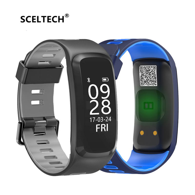 SCELTECH Smart Bracelet F4 Waterproof IP68 Blood pressure Oxygen Heart Rate Monitor Wristband Fitness Track for Android IOS