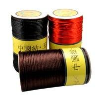 1 рулон провода 3 мм 130 м длиной DIY толстая красная линия шелковый шнур китайский узел провода Нефритовая линия оптом