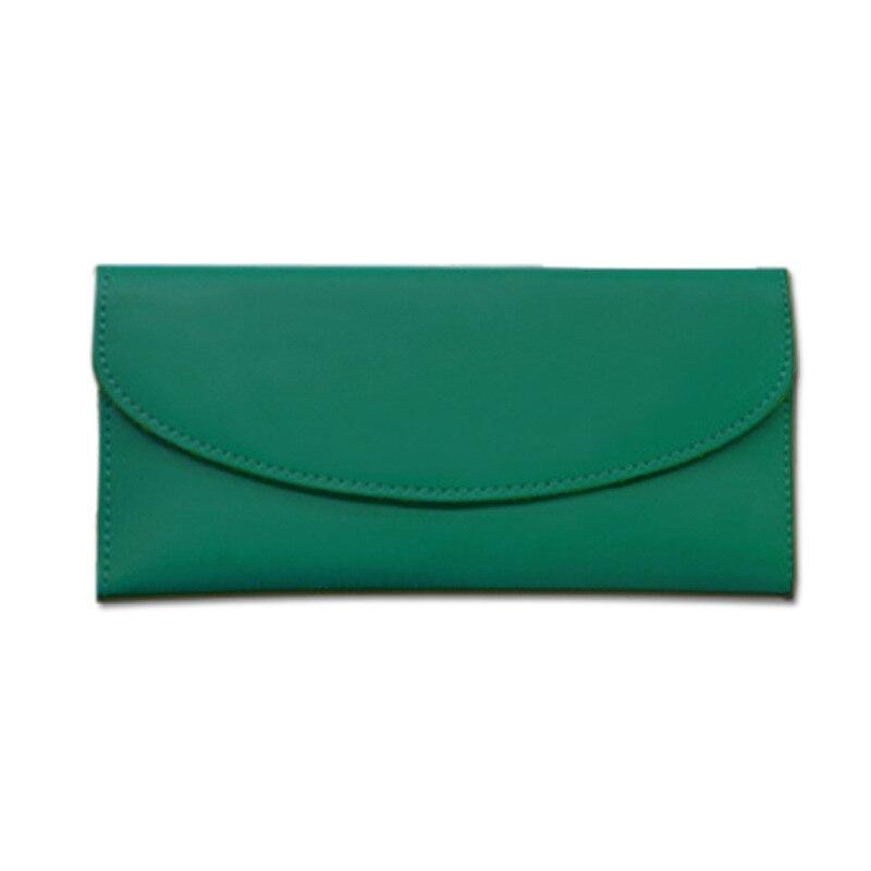 2017 Genuine Leather Women Wallet Long Purse Vintage Solid Cowhide multiple Cards Holder Clutch Fashion Standard Wallet