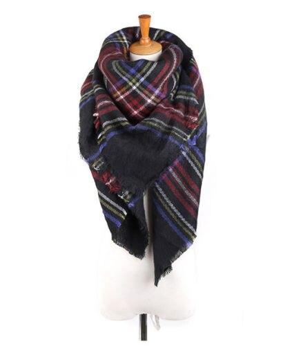 140*140 см унисекс для женщин и мужчин теплое одеяло большой Тартан шарф шаль Bufandas плед уютные проверенные пашмины Шарфы