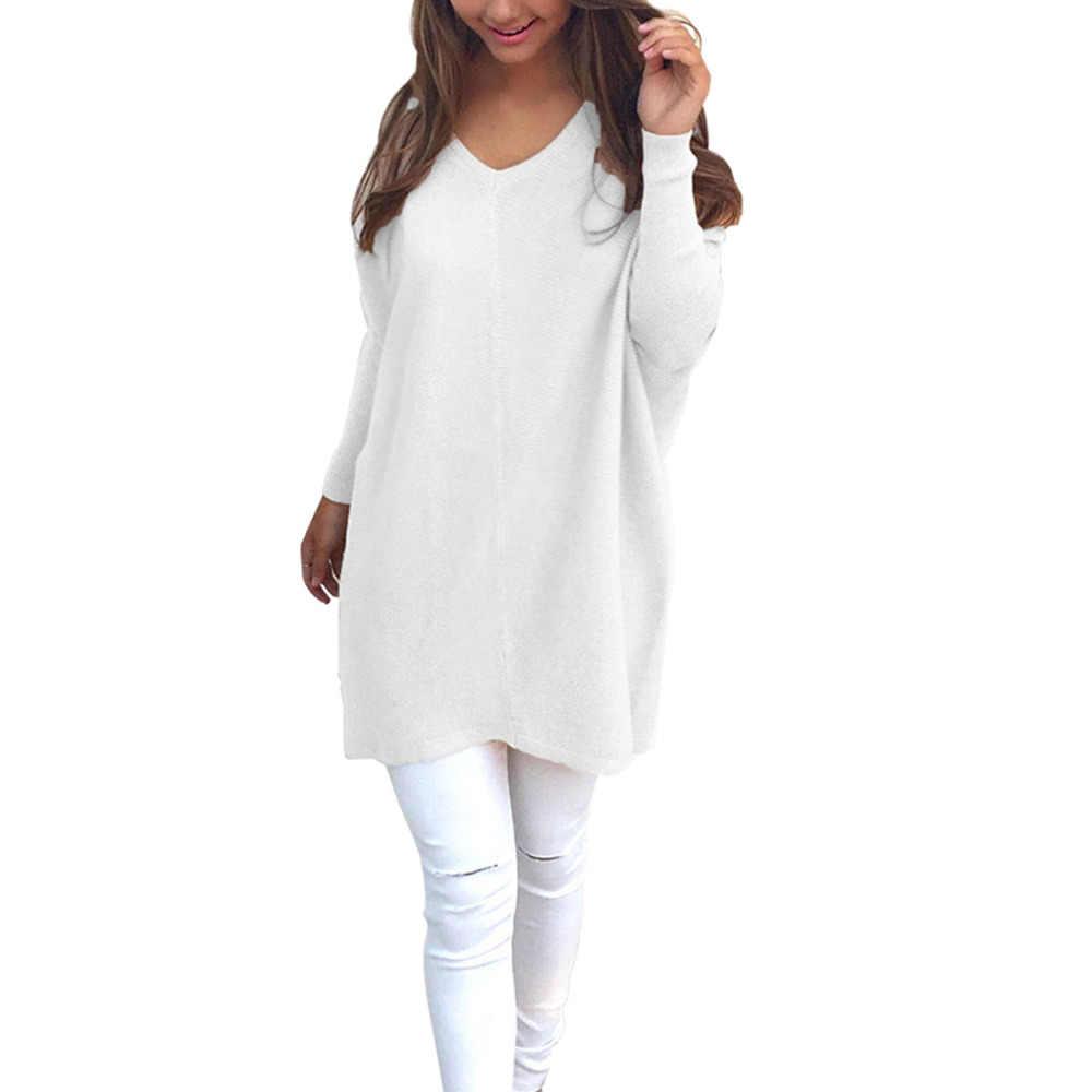 4b2a05d6917 ... V-neck Pullover Fleece Women Casual Long Sleeve Shirt Blouse Top Tunics  Thermal ...