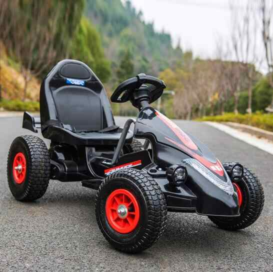 Kids Children S Ride 12v Electric Battery Ed Go Kart With Four Inflatable Wheels And Remote Control