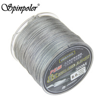 Spinpoler Best Braided Fishing Line 300m Pe Strong Power 130lb Saltwater Sea Multifilament 8 Weaves Braided Fishing Line China