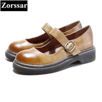 Zorssar Women Handmade Shoes Fashion Real Cow Leather Womens Flats Casual Shoes Slip On Women