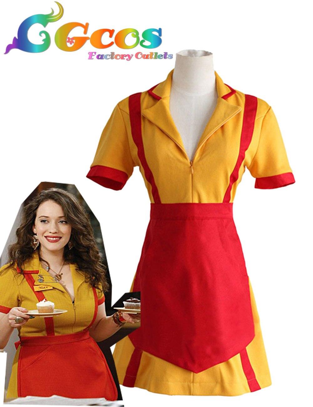 Cgcos Free Shipping Cosplay Costume 2 Broke Girls Max Caroline