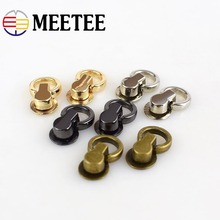 20pcs Meetee Metal Bags Side Ring Nails Buckle Screw DIY Hanging Chain Tongs Snap Hook Hardware Accessoriess