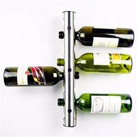 New 8 Holes Wine Rack Holder Unique For Bar Home Decoration Kitchen Bar Metal Stainless Steel