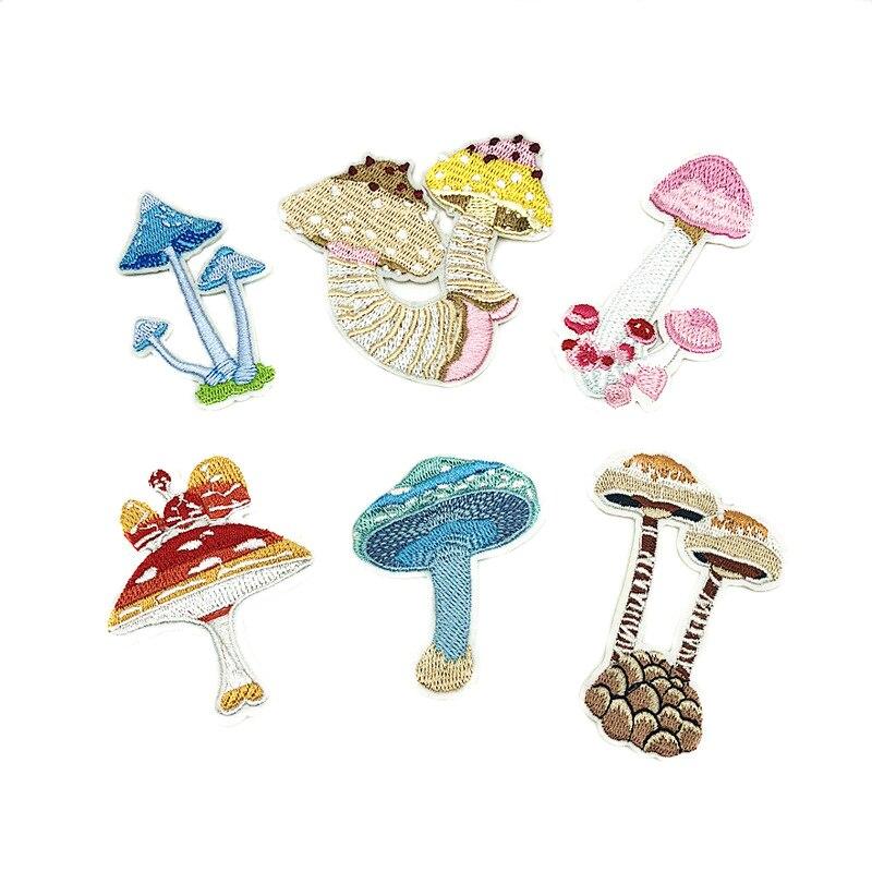 Fashion New Mushroom Embroidery Cartoon cloth stickers Small decoration stickers D-003