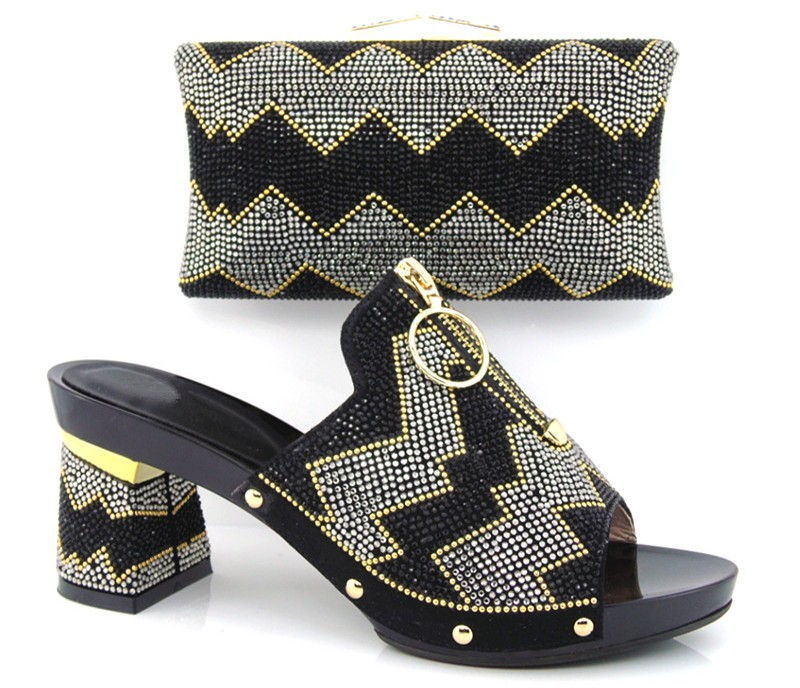 ФОТО High Quality African Shoes And Bag Set For Wedding Party Fashion Italian High Heels Shoes With Matching Bag Set SG16-102
