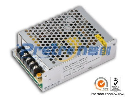 Free shipping DC12V 60W 5A LED Power Supply LED Power Transformer/led driver,Input:100~250V/Output:60W 5A Guarantee 100%