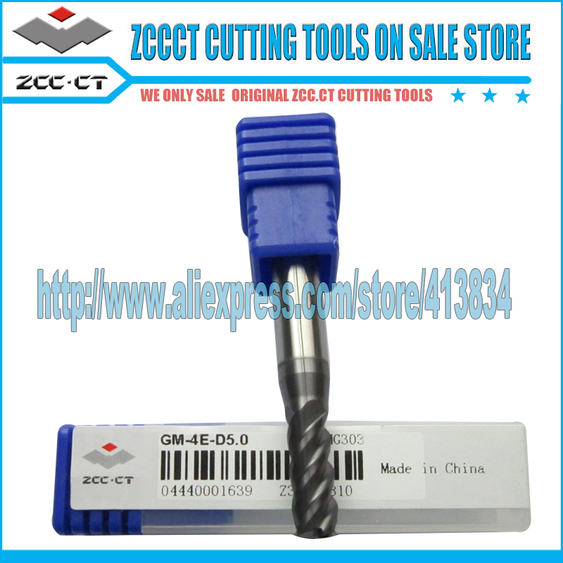 Free Shipping ZCC.CT Cemented Carbide ZCC End mill milling cutter for mills  1 pack