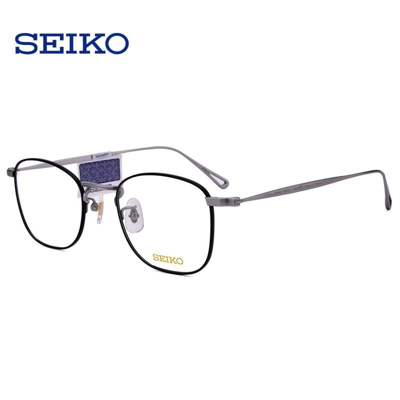 SEIKO titane lunettes cadre lunettes de Prescription hommes lunettes dioptriques lunettes optiques lunettes correctrices cadre avec lentilles - 3