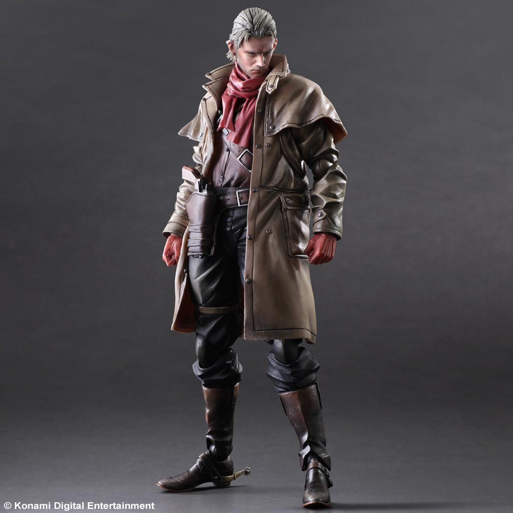 00% Original SQUARE ENIX Play Arts Kai Metal Gear Solid V The Phantom Pain Ocelot 30cm PVC Action Figure Collection Toy Doll