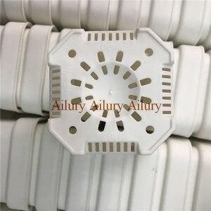 Image 2 - 20 قطعة/الوحدة ، Dimater هو 9.3 سنتيمتر ، الأبيض اضافية سميكة البلاستيك إناء زهور مربع الشكل ، المنزل البستنة البلاستيك زهرة وعاء ، سمين وعاء