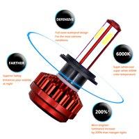 R7 6000K Car EMC LED 12V Headlight Bulb Auto H4 H7 H11 LED COB Front Head