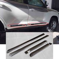 New Chrome Bumper Strip Car Side Door Body Molding Cover Trim Plate Sticker For Toyota LC