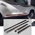 Nuevo Chrome Bumper Strip Car Side Door Body Molding Ajuste de La Cubierta etiqueta de la placa para toyota land cruiser lc 200 fj200 2016 4 unids