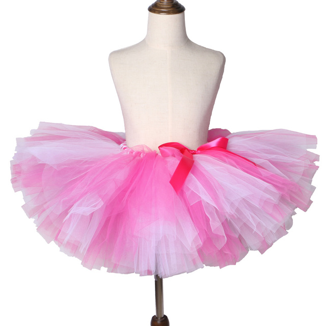 3cd52401234ca Girls Tutu Skirt Hot Pink & Light Pink Fluffy Tulle Skirt Girls Baby Tutu  Kids Birthday Party Skirt Children Dance Ballet Tutus