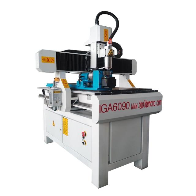 China Wood Cnc Router 6090 4 Axis Cnc 3d Wood Cutting Mini Cnc Machine