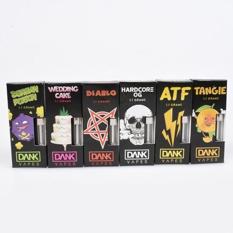 10pcs Dank Vapes Cartridge electronic cigarette atomizers Sunset Sherbet/Durban Poison/Strawberry Cough for 54 Flavors Lahore