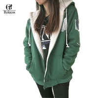 Japanese Anime Shingeki No Kyojin Winter Warm Attack On Titan Jacket Hoodie Cosplay Costume