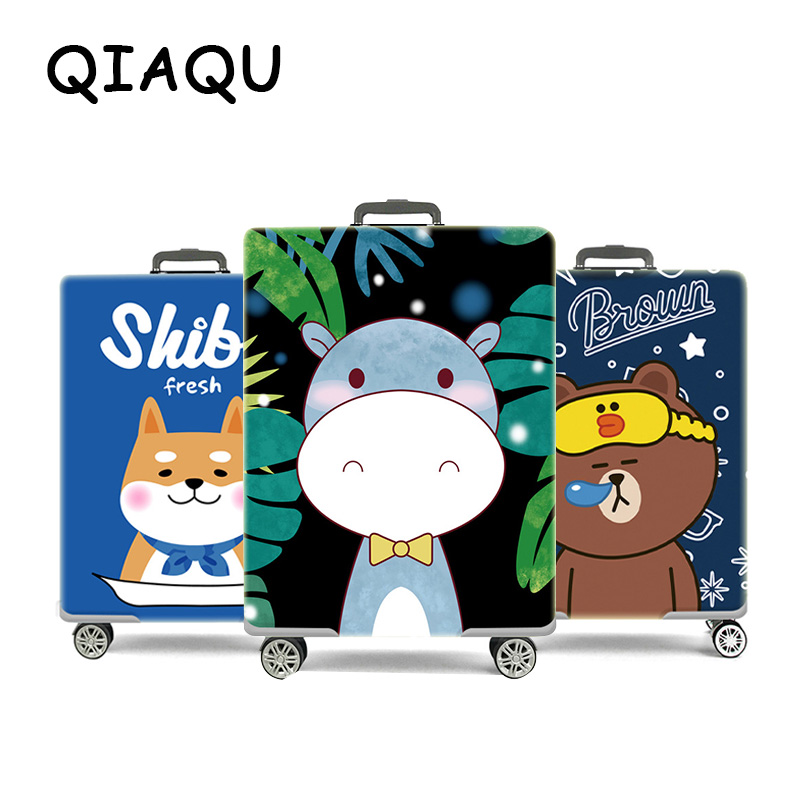 QIAQU Cartoon Protective Carrying Case Cover Case Thick Suit For 18-30 Inch Case Trunk Case Lugagge Tag Travel Accessories