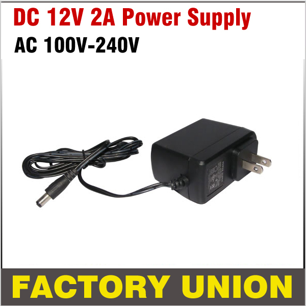 CCTV Adapter 12v 2A RoHS AC 100-240v to DC Power Supply Adapter AC DC Uk/US/UE Plug Adapter for CCTV Camera DVR System dc 12v 5a ac adapter cctv power supply adapter box 1 to 8 port for the cctv surveillance camera system abs plastic