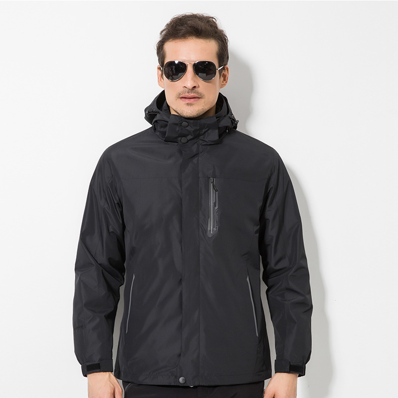 DZRZVD Winter Outdoor Ski Hiking Fleece Jacket Men Large Size Two-Piece Warm windbreaker Windproof Waterproof Men Hooded Coats dugadi dzrzvd 36 55l