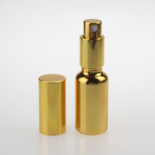 high quality mist glass spray bottle 20ml, gold and silver perfume