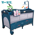 Cuna del bebé Los Niños Bolsas de Dormir Almohada Cunas Para Bebés Gemelos Juego Elysium Multifuncional Cama de Bebé Plegable Bettr Hierro Paño Bb
