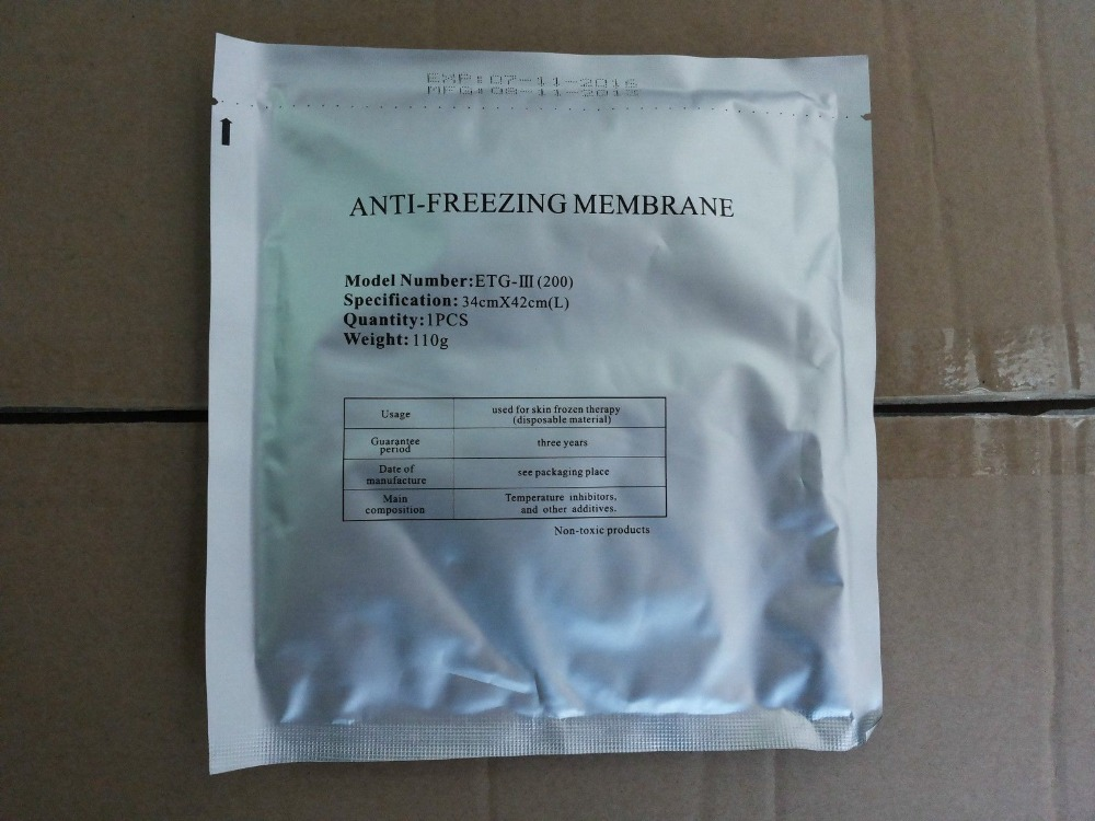 AntiFreeze Membrane Big Size 34 42cm 50pieces for Cryolipolysis Freeze Fat Machine