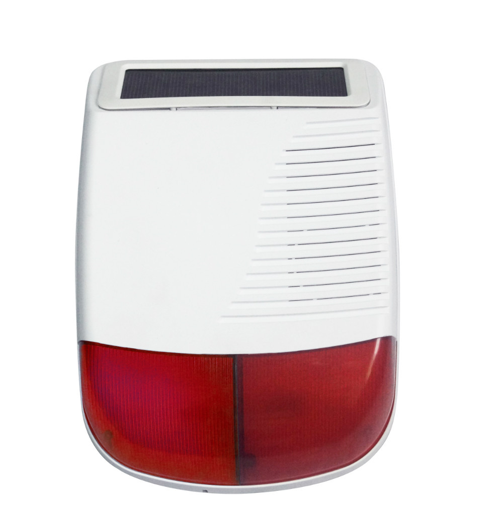 FSK 868Mhz Outdoor Solar powered Siren wireless waterproof outdoor strobe siren works with X6 alarm system strategic management of technological innovation