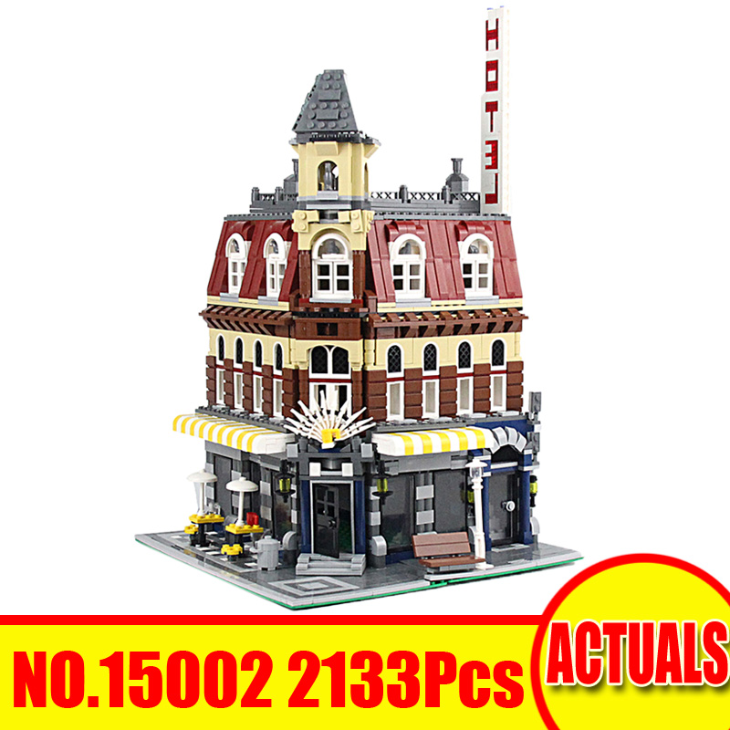15002 2133Pcs Lepin City Street Figures Cafe Corne Model Building Kits Blocks Bricks Set Toys For Children Compatible With 10182 10646 160pcs city figures fishing boat model building kits blocks diy bricks toys for children gift compatible 60147