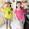 Children's clothing female child set summer 2016 summer little girl sports clothes child summer short-sleeve child baby girls
