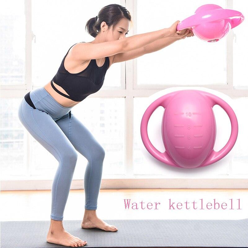 4/6/8/10/12LB D'eau Kettlebell PVC Bouilloire De Remise En Forme Portable Exercice Facile Transporter Femmes Crossfit équipement Réglable Haltère
