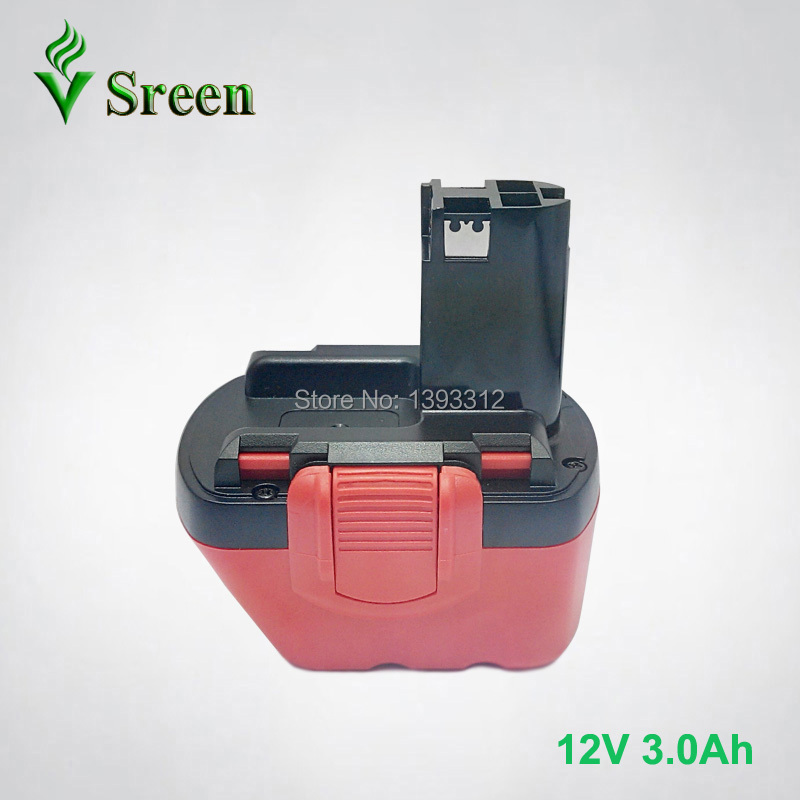 New 12V Ni-Mh 3000mAh Replacement Rechargeable Power Tool Battery for Bosch BAT043 BAT049 BAT046 2 607 335 692 Drill Batteries