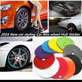 8m car styling Tire Tyre Rim care protector Hub Wheel Stickers strip for BMW SKODA kIa Opel Toyota Audi car accessories