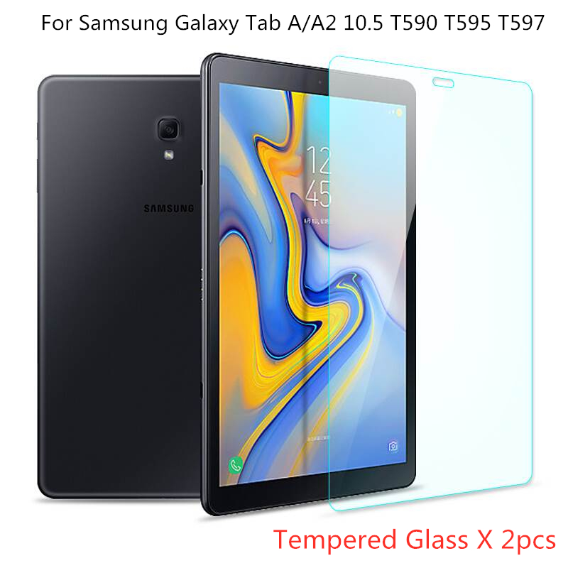 2pcs Tablet Tempered Glass For Samsung Galaxy Tab A 10.5 2018 Screen Protector Tab A2 10.5 T590 T595 T597 SM-T590 Flim