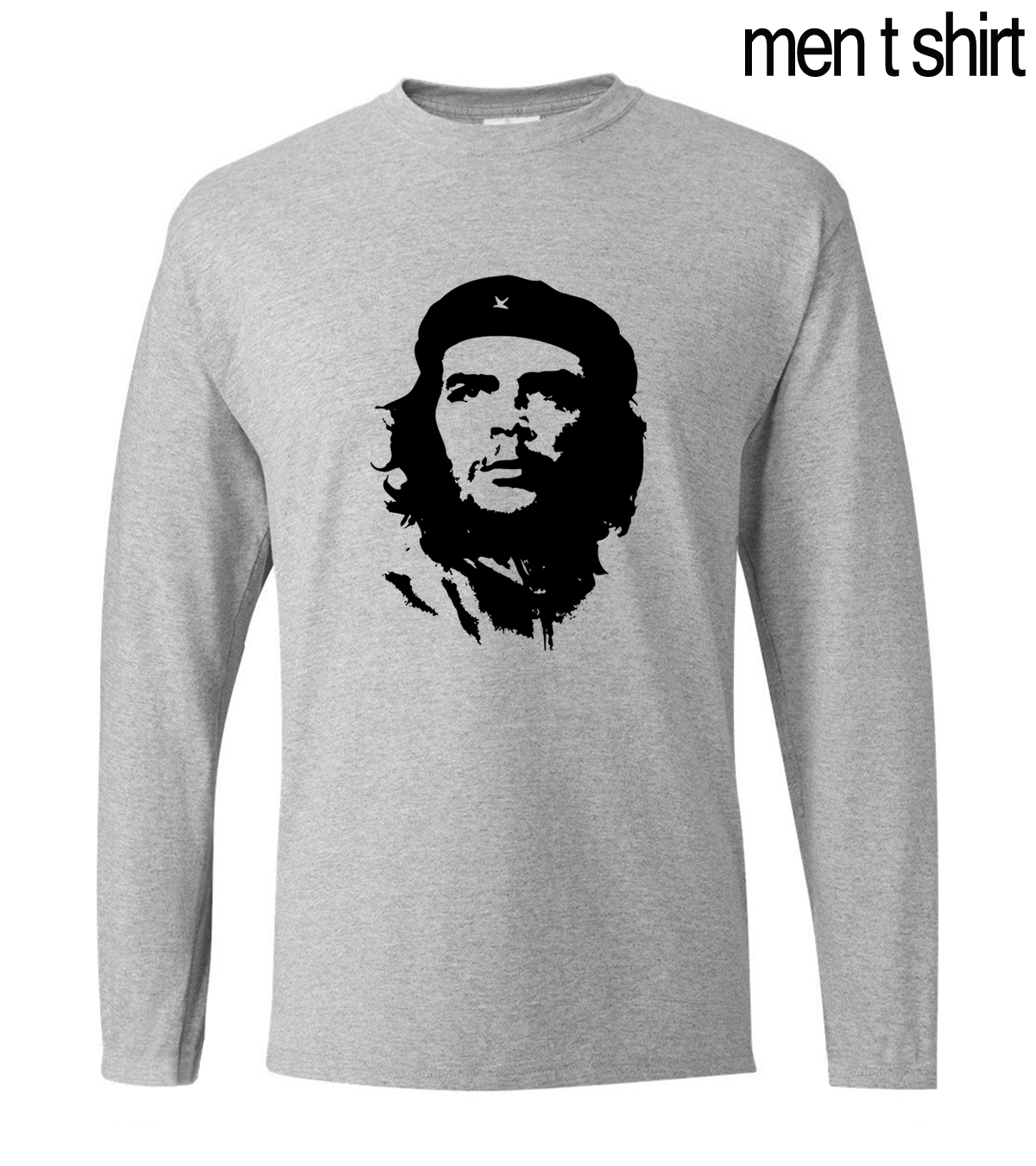 New Arrival Ernesto Guevara Men Tshirt 2019 Autumn Long Sleeve Men's T Shirt 100% Cotton Casual T-Shirt Slim Fit Brand Clothing