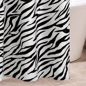 Image 5 - Zebra Stripes tkanina poliestrowa kurtyna łazienkowa odporne na pleśń miękka zasłona wanny wodoodporne Skidproof akcesoria łazienkowe